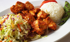 Uskudar Turkish Restaurant: Three-Course Meal with Wine for Two at Uskudar Turkish Restaurant (Up to 36% Off).