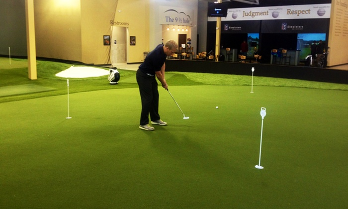 The Learning Center - The Learning Center: 10 Driving Range Practice Sessions, or One 18-Hole Simulator for 1 or 4 at The Learning Center (Up to 60% Off)