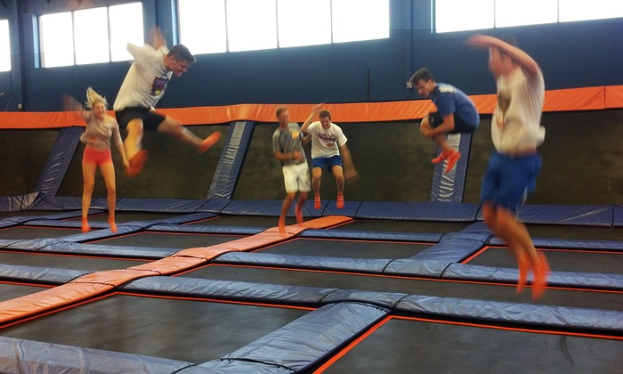 Sky Zone - Tulsa - Tulsa: $17 for 60-Minute Indoor Trampolining Passes for Two at Sky Zone - Tulsa ($28 Value)