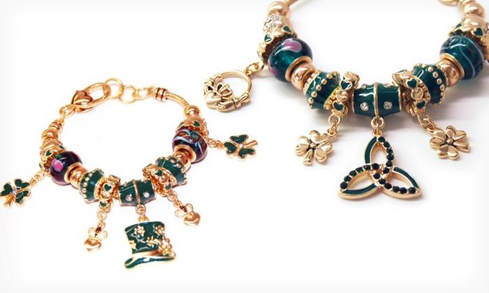Landau Gold Tone Charm Bracelet Groupon Goods