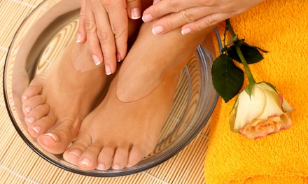 One or Two Champagne and Rose Manicure or Mani-Pedi Packages at Ruthie's Nail Parlor (Up to 69% Off)