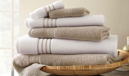 6-Piece 100% Cotton Quick-Dry Towel Set