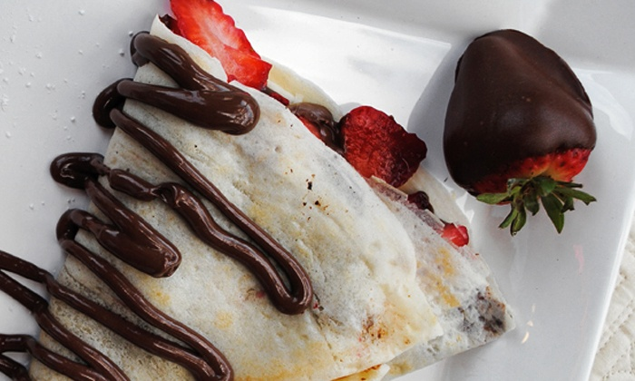 Paris Creperie - Coolidge Corner: Breakfast or Dinner Crepes with Drinks for Two or Four at Paris Creperie