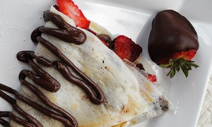 Paris Creperie: Breakfast or Dinner Crepes with Drinks for Two or Four at Paris Creperie