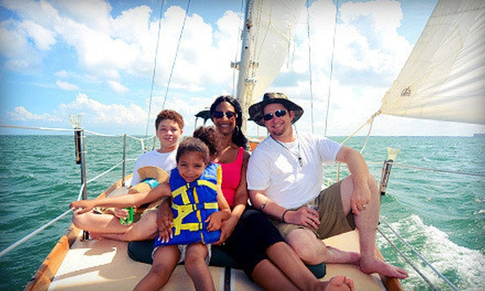 Sailing on Biscayne Bay - Northeast Coconut Grove: $45 for a Two-Hour Semiprivate Sail for One with One Portrait from Sailing on Biscayne Bay ($100 Value)