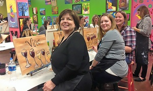 Masterpiece Mixers - John's Creek: Two-Hour BYOB Painting Class for One or Two at Masterpiece Mixers (Up to 42% Off)