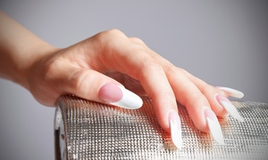 Pink Line Nail Spa: Acrylic or Gel Nail Extension With One Classic or Gelish Colour Polish at Pink Line Nail Spa (Up to 75% Off)