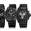 Akribos XXIV Men's Black Chronograph Bracelet Watches