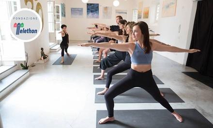 10 o 20 lezioni di yoga a scelta
