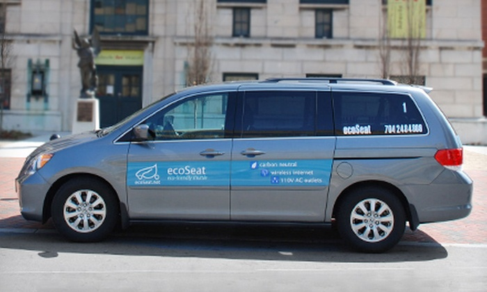 EcoSeat - Charlotte: One-Way Airport Shuttle Service Within 10 or 30 Miles of Zip Code 28204 from EcoSeat (Up to 60% Off)