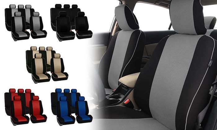 Cloth Car Seat Cover Set 6 Piece