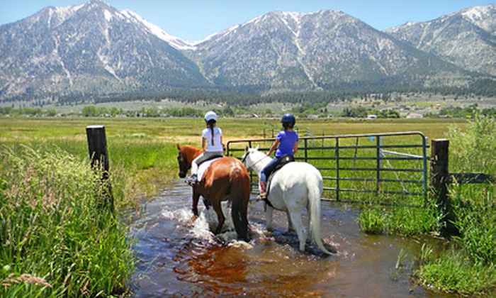 Sheridan Creek Equestrian Center - Gardnerville: One-Hour Custom Trail Ride for Two or Weekend Horse Camp at Sheridan Creek Equestrian Center (Up to 56% Off)