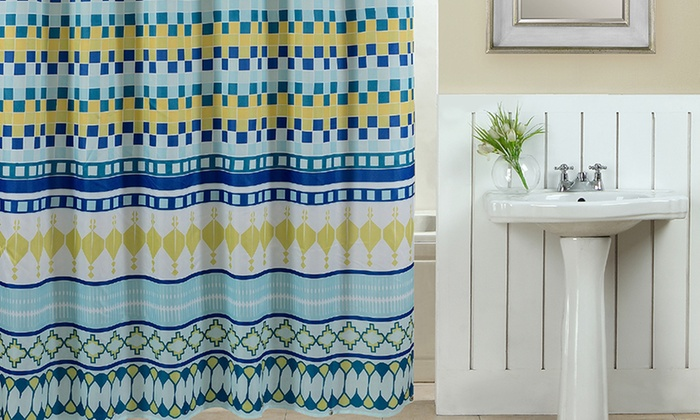 Geometric Shower Curtain 13pc