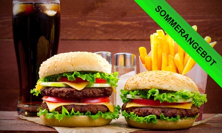 Burger All You Can Eat inkl. Vorspeise, Pommes und Getränk für 2 oder 4 Personen bei Le Journal (bis zu 51% sparen*)