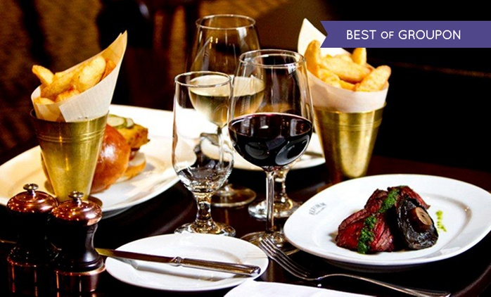 Three-Course Dinner with Wine for Two or Four at Reform Social and Grill (Up to 58% Off)