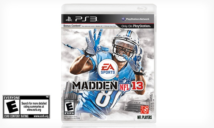 Madden NFL 13 for PlayStation 3: $29.99 for Madden NFL 13 for PlayStation 3 ($59.99 List Price). Free Shipping and Free Returns.