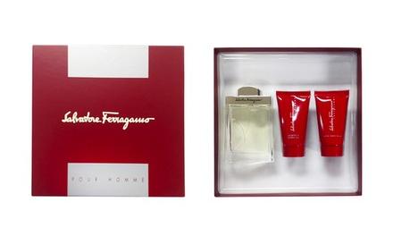 Salvatore Ferragamo Pour Homme Men's Gift Set (3 Pieces)