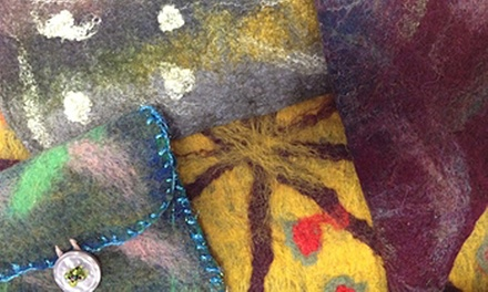 Two-Hour Intro to Feltmaking Class with Supplies for One or Two at Eugene Textile Center (Up to 56% Off)