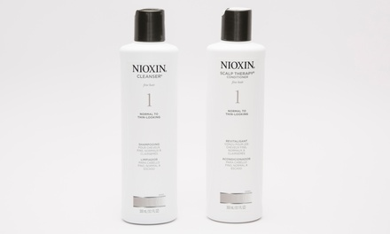 Nioxin Hair Cleanser and Scalp Therapy Duos (2 Bottles, 10.1 Fl. Oz. Each)