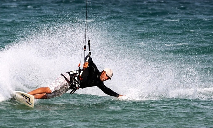 Captain Kirk's - San Pedro: Intro to Kiteboarding Lesson for One or Two with Equipment Provided at Captain Kirk's in San Pedro (Up to 56% Off)