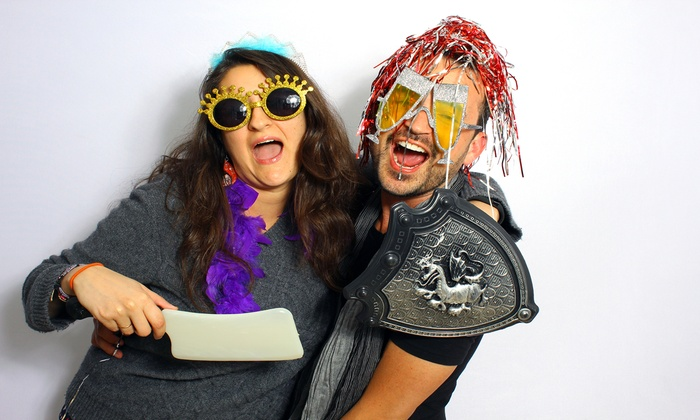 Scarlet's Photo Booth - Miami: Two- or Three-Hour Photo-Booth Rental with Unlimited Prints from Scarlet's Photo Booth (Up to 51%Off)