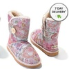 California Footwear Women's Shasta Patterned Shearling Boots