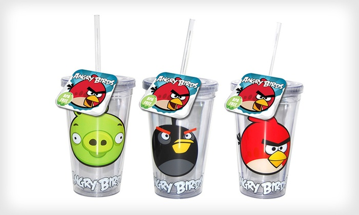"""Angry Birds"" Water Bottles or Tumblers: $12 for a Two-Pack of ""Angry Birds"" Water Bottles or Tumblers ($25.98 List Price). Four Options Available. Free Returns."