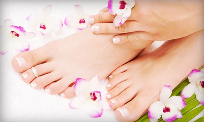 Nail Sweet - Dallas: One or Three Shellac Manicures and Spa Pedicures at Nail Sweet (Up to 62% Off)
