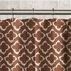 Diamonte Peva Shower Curtain: Chocolate