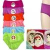 Girls' 100% Cotton Princess Bikini Panties (6-Pack)