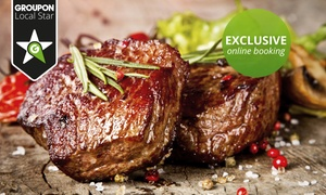 The Famous Butchers Grill: 200g Steak with Dessert from R188 for Two at The Famous Butchers Grill (Up to 52% Off)