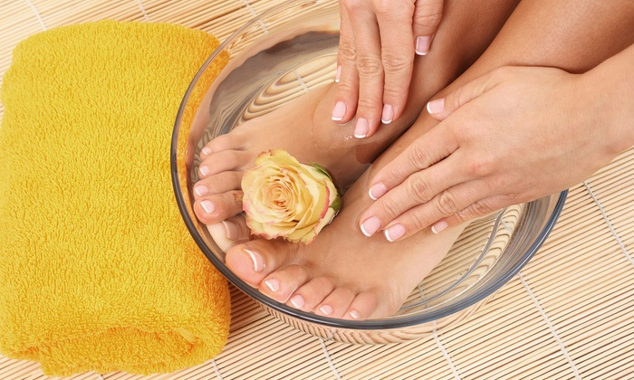 A Gentle Touch - A Gentle Touch: Satin Hands Manicure and Satin Feet Pedicure or Seasonal Mani-Pedi at A Gentle Touch (Up to 55% Off)