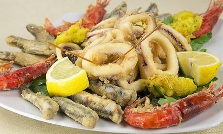 Menu con 1 kg di pesce fritto