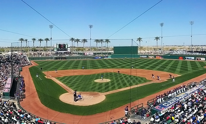 Spring Training for Cleveland Indians or Cincinnati Reds - Goodyear Ballpark: Cincinnati Reds or Cleveland Indians Spring Training Game with Food Voucher (March 17–March 31)