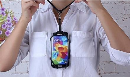Protector para smartphone con cordón colgable al cuello