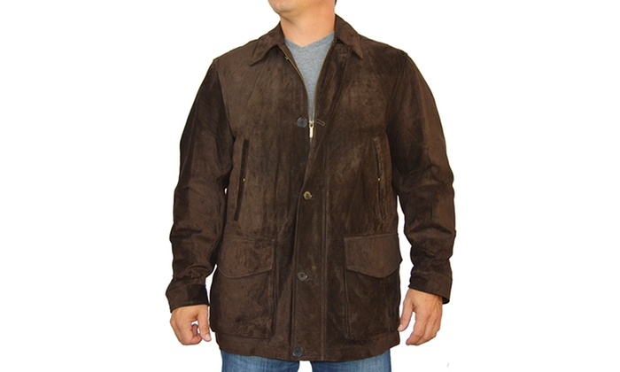 """""""Red House"""" Men's Brown Calf Suede Coat Size XL"""
