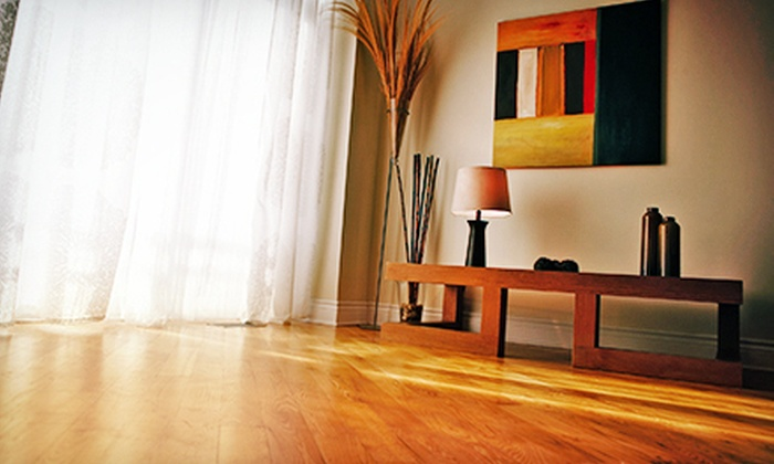 Peach Design, Inc. - Multiple Locations: Hardwood-Floor Cleaning and Polyurethane Recoating for 400 or 800 Square Feet from Peach Design, Inc. (Up to 55% Off)