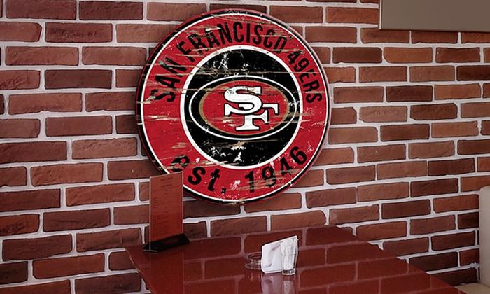 San Francisco 49ers Round Distressed Sign: San Francisco 49ers Round Distressed Sign