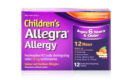 Allegra Children's 12-Hour Orally Disintegrating Tablets; 6-Pack of 12 ct. Boxes + 5% Back in Groupon Bucks