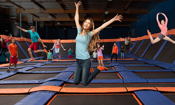 Sky Zone - Pine Brook - Sky Zone Pine Brook: One-Hour Weekday Trampoline Session for 2, 4, or 6 With Sky Socks at Sky Zone - Pine Brook (Up to 43% Off)