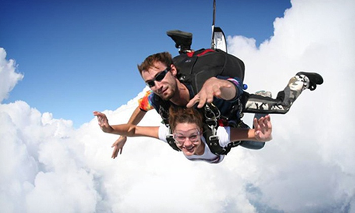Skydive Tecumseh - Saline Heights: $159 for a 7,500-Foot Tandem Jump from Skydive Tecumseh ($245 Value)