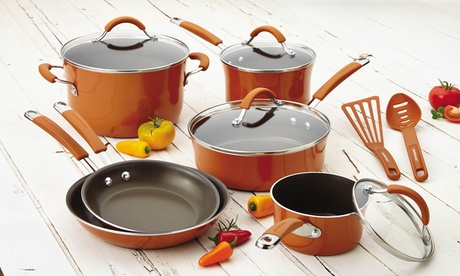 Rachael Ray Cucina Hard Enamel Nonstick Cookware Set (12-Piece) 55653fd0-8148-11e7-a1c9-00259060b5da