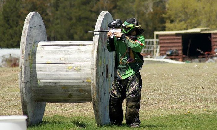 Adrenaline Paintball - Melbourne: Paintball Package with Rental Gear and Ammo for Two, Four, or Six at Adrenaline Paintball (Up to 53% Off)