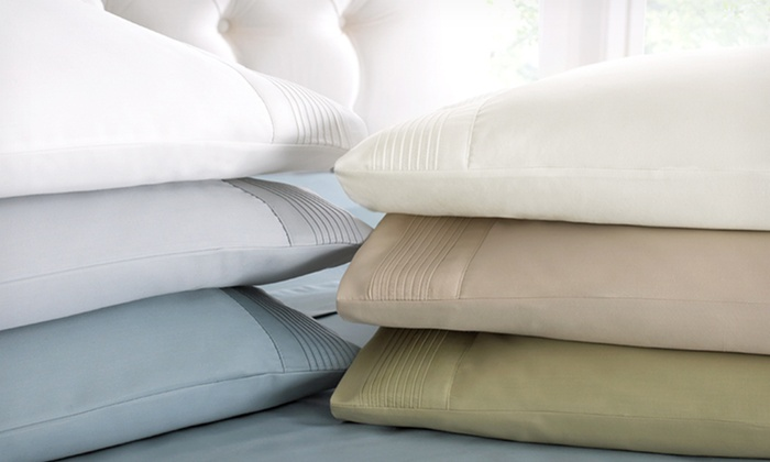 800 Thread Count Egyptian-Cotton-Rich Pleated-Hem Sheet Sets: Symphony 800 Thread Count 4-Piece Sheet Set (Up to 71% Off). Multiple Colors Available. Free Shipping and Returns.