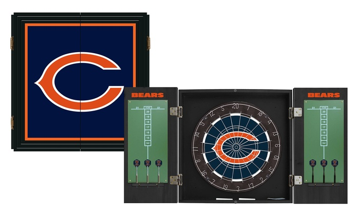 Chicago Bears Extreme Fan Dart Cabinet Set: Chicago Bears Extreme Fan Dart Cabinet Set