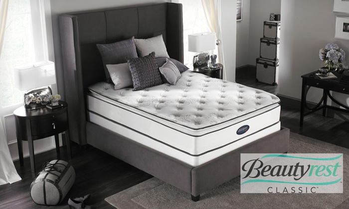 Simmons Beautyrest Plush Pillowtop Mattress Set: Simmons Beautyrest Plush Pillow Top Mattress Set (Up to 69% Off). Five Sizes Available. Free White Glove Delivery.