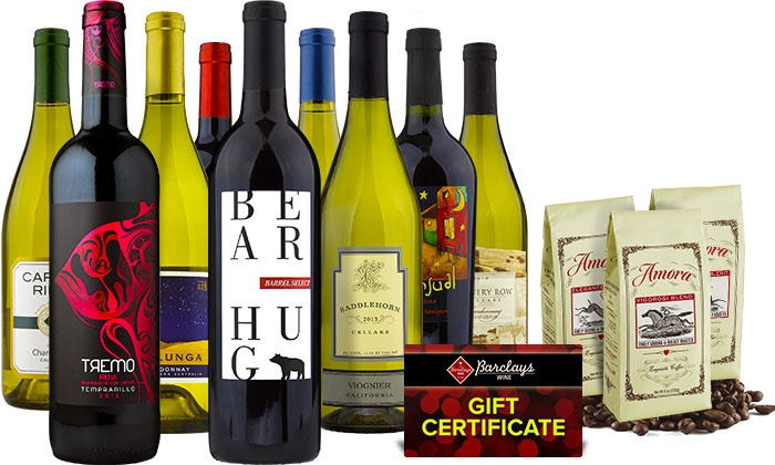 Barclays Wine: Wine, Amora Coffee, and Gift Cards from Barclays Wine (Up to 77% Off). Two Options Available.