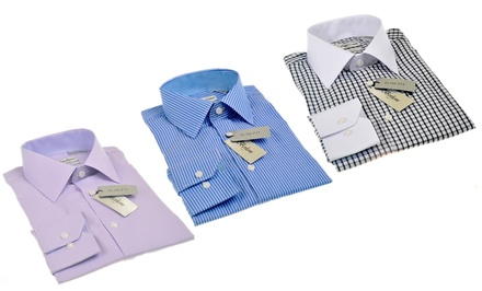 Berlioni Men's Slim-Fit Dress Shirts