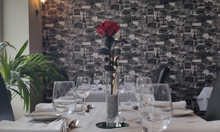 TwoCourse Meal with Glass of Bubbly for Two or Four at Banks Bistro