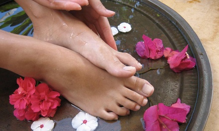 Deluxe or Ultimate Pedicure with Glass of Sparkling Wine at The Pedi Spa (Up to 57% Off)